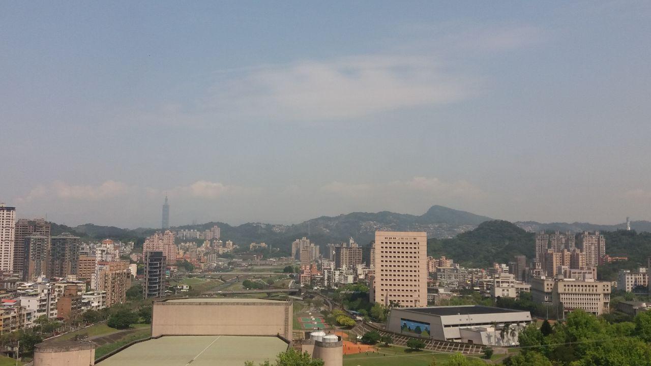 Suasana kota Taipei dari gedung kampus National Chengchi University
