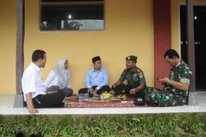 Kang Deden bersama petinggi TNI di Kabupaten Lebak, Banten