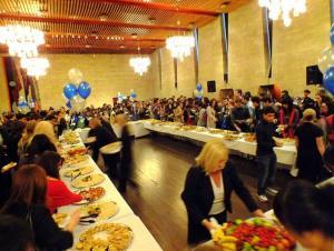 Welcome dinner bagi pelajar internasional di Newcastle University. Foto oleh Citra.