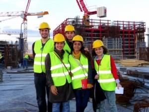 Saat melakukan site visit Program Studi Manajemen Konstruksi Departemen Teknik Sipil. Foto oleh Citra.
