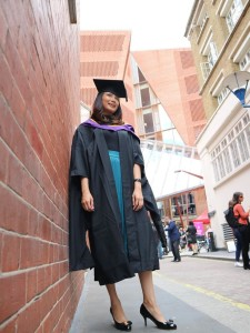 Graduation picture! I finally made it through LSE. Photo by Author.