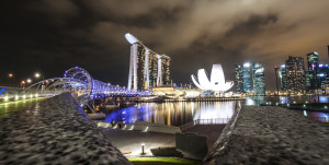 Singapore Night View, Source: Flickr.com Creative Commons by Bruno Leveque