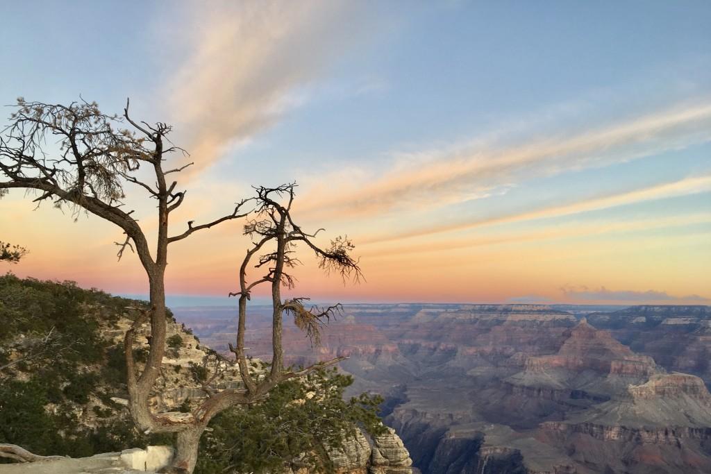 Pemandangan di taman nasional Grand Canyon yang tak terlupakan.