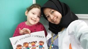 Bersama salah satu murid