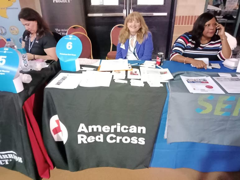 Red Cross at a job fair