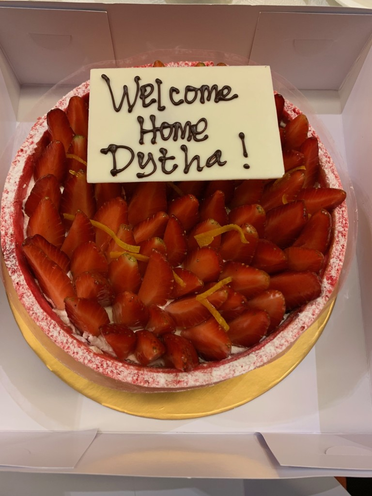 A welcome cake - photo from Author