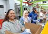 Volunteering at Houston Food Bank