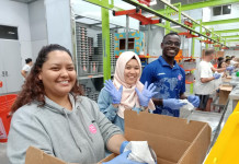 Volunteering at Houston Food Bank