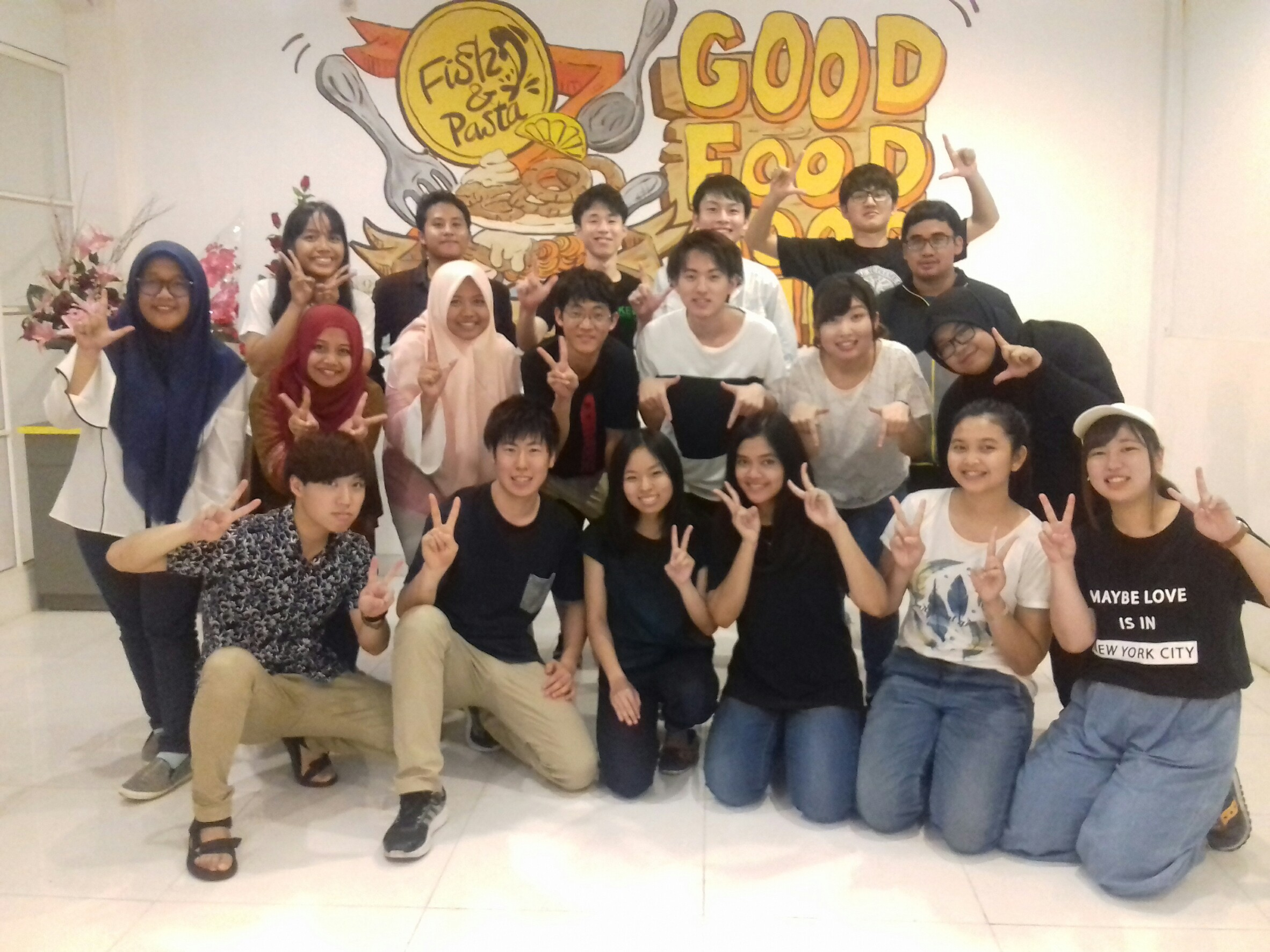 With HUE Students at Indonesia International Contribution Project