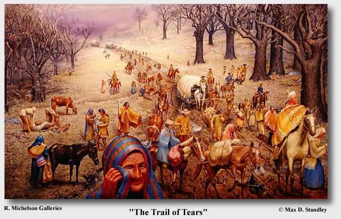 Lukisan The Trail of Tears karya Max D. Stanley
