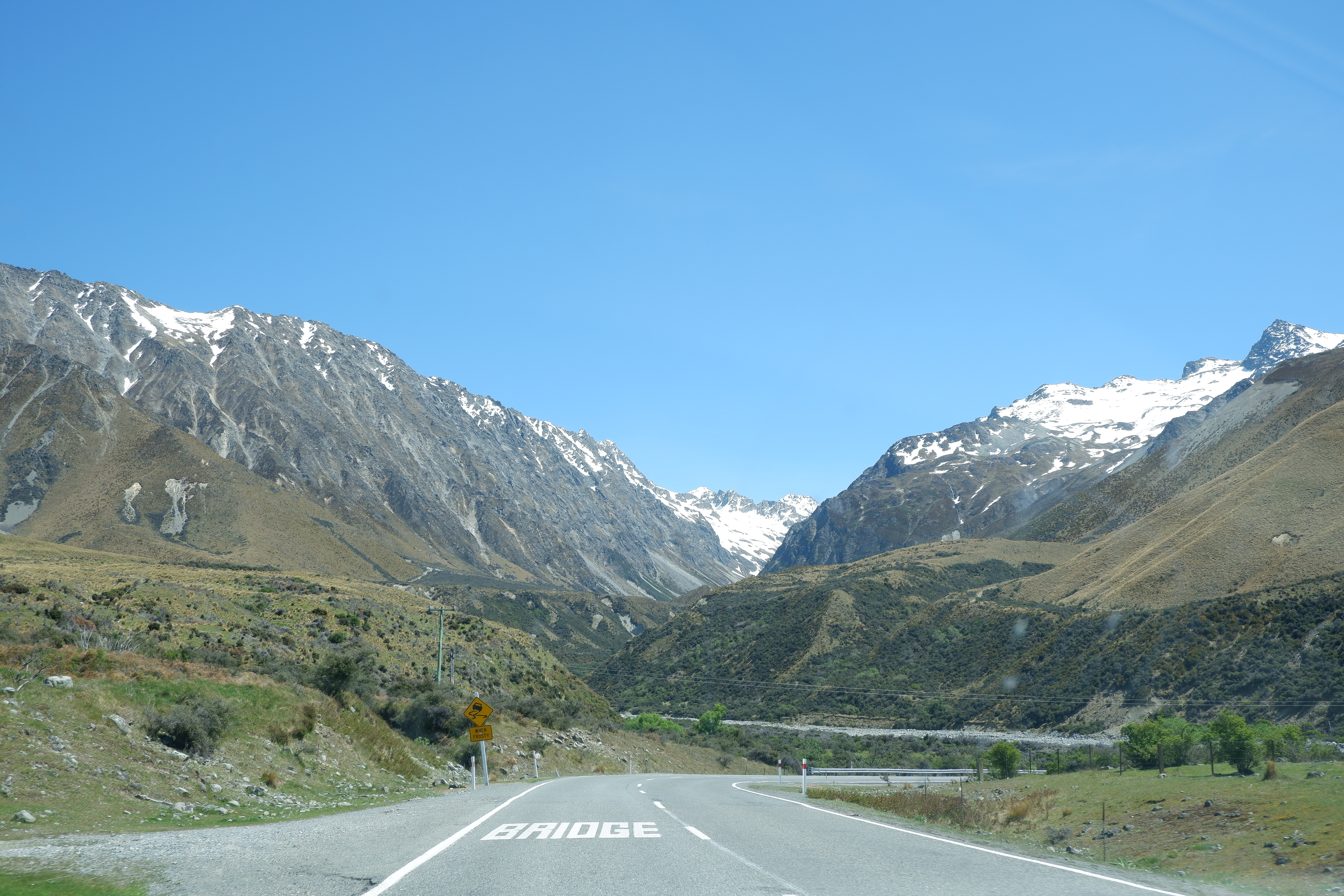 The road to Mount Cook, New Zealand