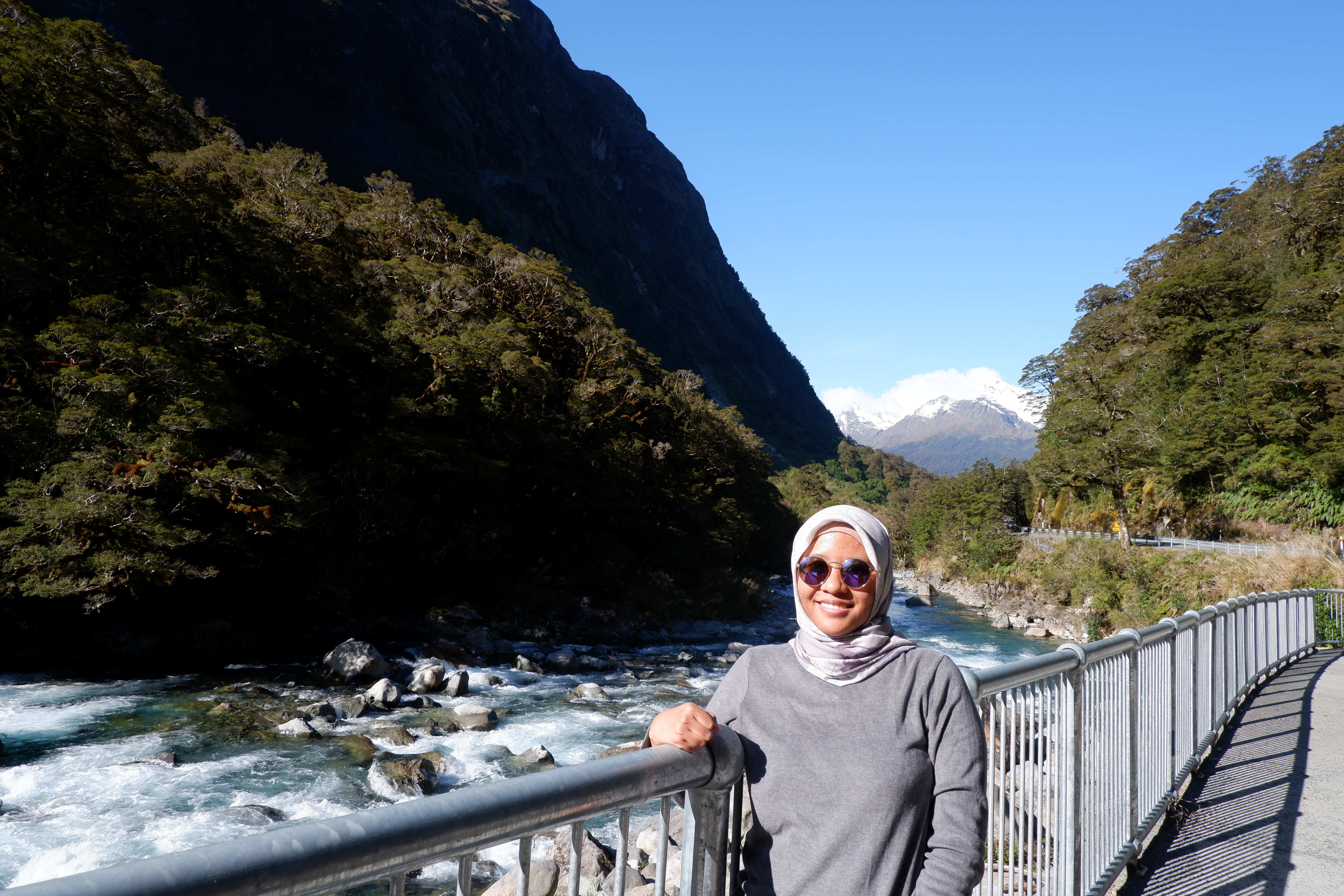 Fara Shabira Arrasya, the author, while travelling in New Zealand