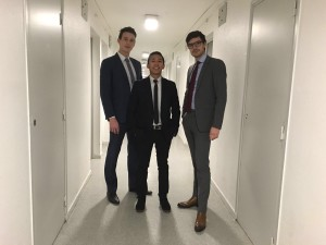 Me and my friends at Business School
