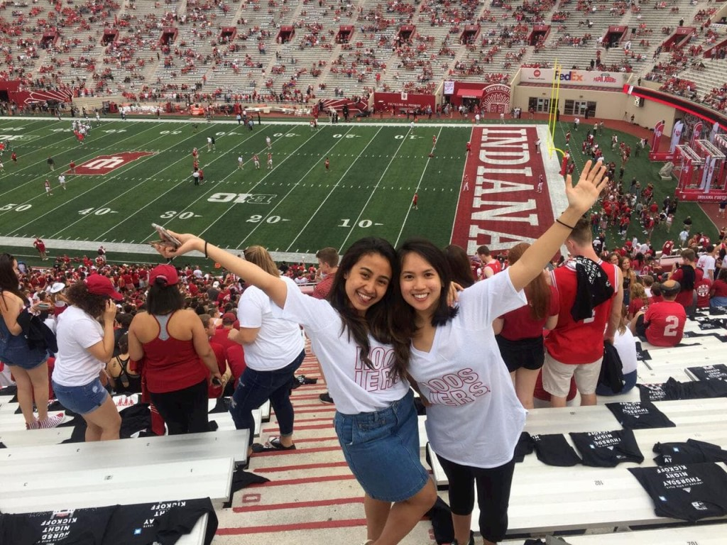 Farah at her first college football game