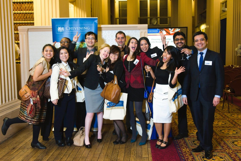 Indonesian Astrid Kusumawardhani with her Chevening group