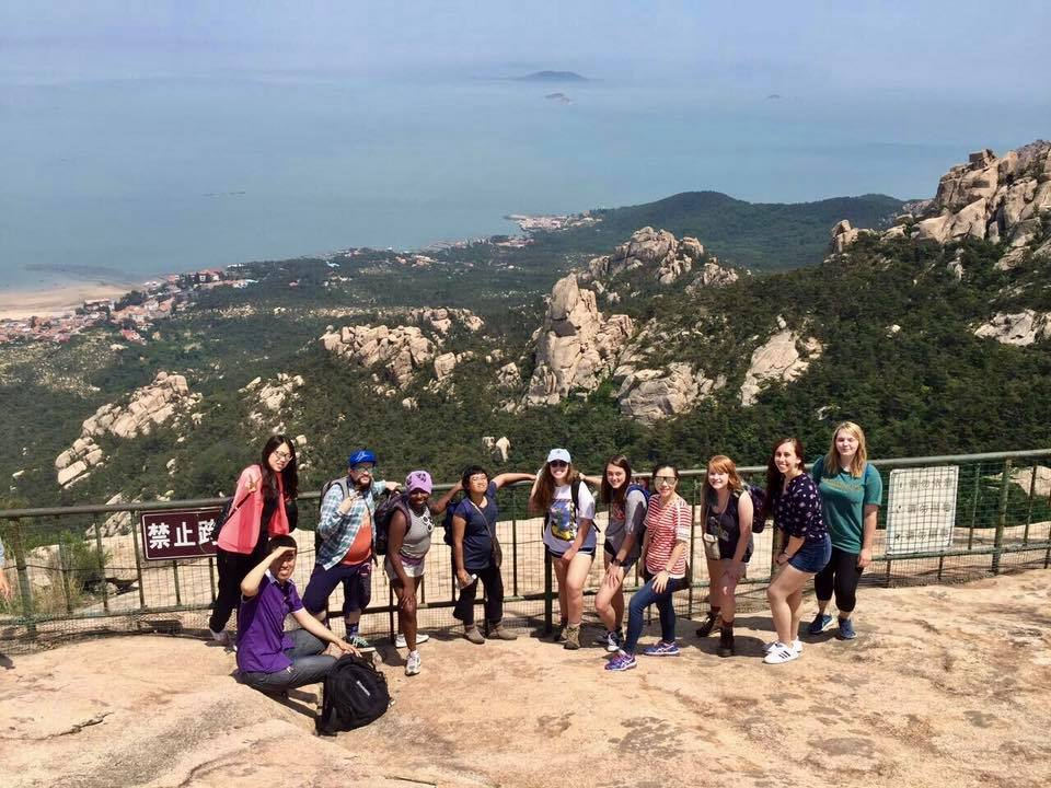 Inef and her fellow International Studies classmates went to Mountain Lao Shan in Qingdao, China in 2017 as a part of their study abroad trip to satisfy a graduation requirement and acquire multicultural perspective.