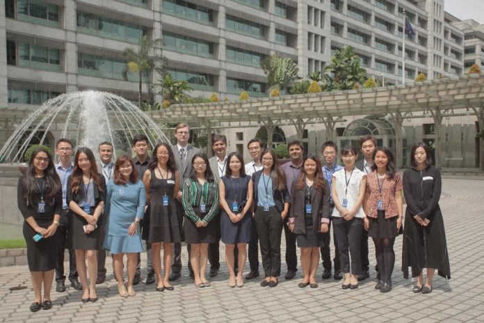 Figure 1. Me and the fellow interns (I am the second person from the right). Photo source: ADB Website