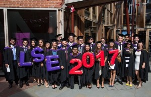 Indonesian student Amirah Kaca and fellow classmates graduated from the LSE in 2017