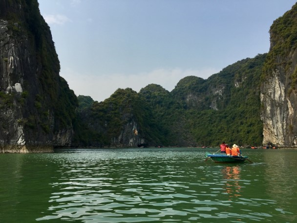 The author visited Ha Long Bay (Vietnam) during his business trip. Some conferences include sightseeing in their conference program. Photo by author.