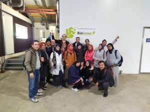 Indonesian Novelita Mondamina with fellow participants of the 2019 bioenergy production retooling program in the University of Applied Science, Van Hall Larenstein, Leeuwarden, the Netherlands, sponsored by Indonesia's Ministry of Research, Technology, and Higher Education