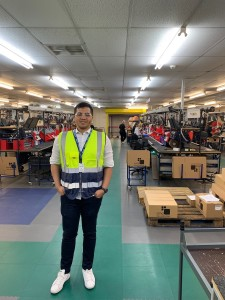 Indonesian Restaditya Harris loves to travel to taste new experiences and seek business opportunities, as pictured here during his visit to an electrical and electronic manufacturing company in Rotherham, UK