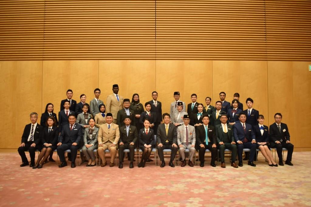 Kunjungan Kehormatan ke Perdana Menteri Jepang H.E. Shinzō Abe. Sumber foto: Cabinet Office of Japan