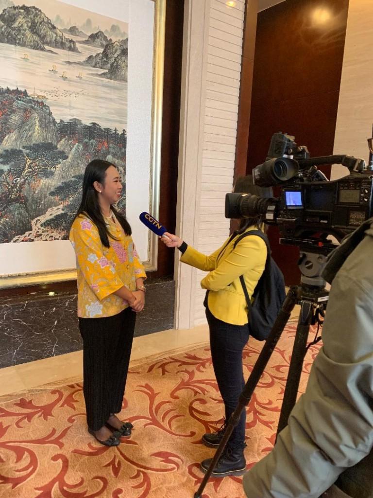 Wawancara bersama China Global Television Network.