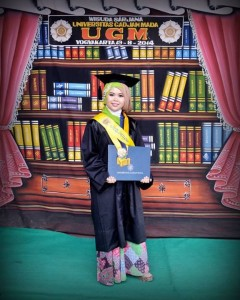 Puji's graduation day at Universitas Gadjah Mada Yogyakarta