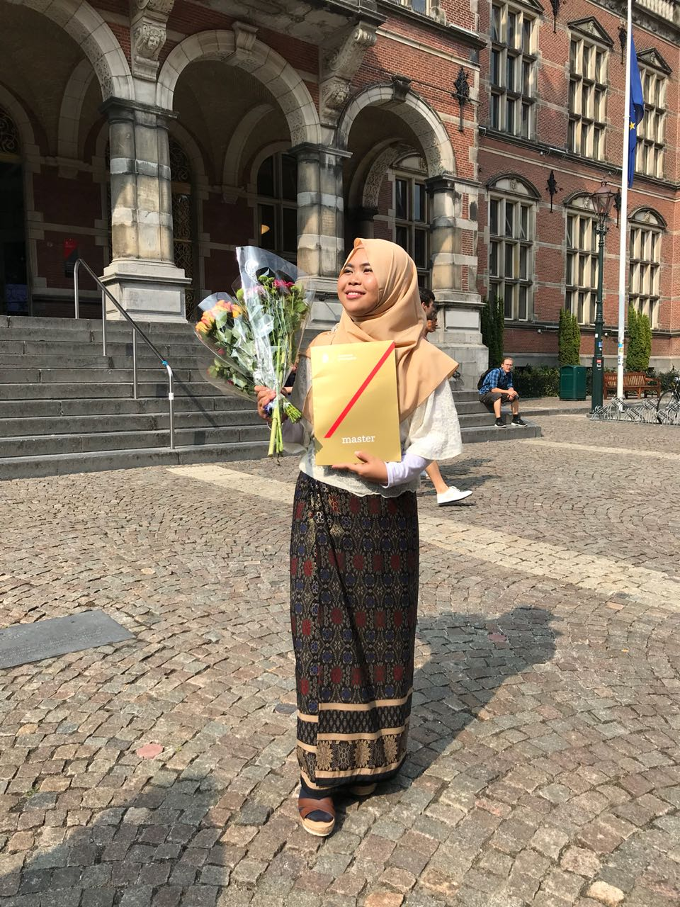 Puji's graduation day at the University of Groningen, the Netherlands