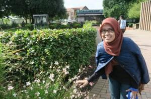 Indonesian student Novelita W. Mondamina in the University of Southampton, UK