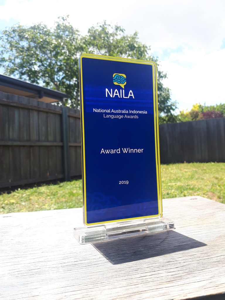 National Australia Indonesia Language Awards Trophy