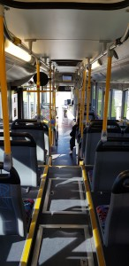 Nearly empty public bus in Canberra