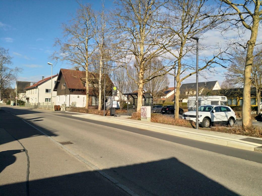 Suasana kompleks pemukiman di Ulm yang nampak sepi