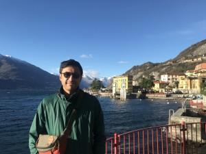 Indonesian Khairul Ikhwan during his visit to Lake Como, Italy