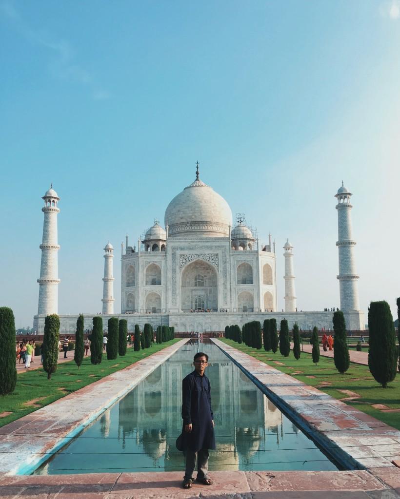 The beauty of the Taj Mahal.