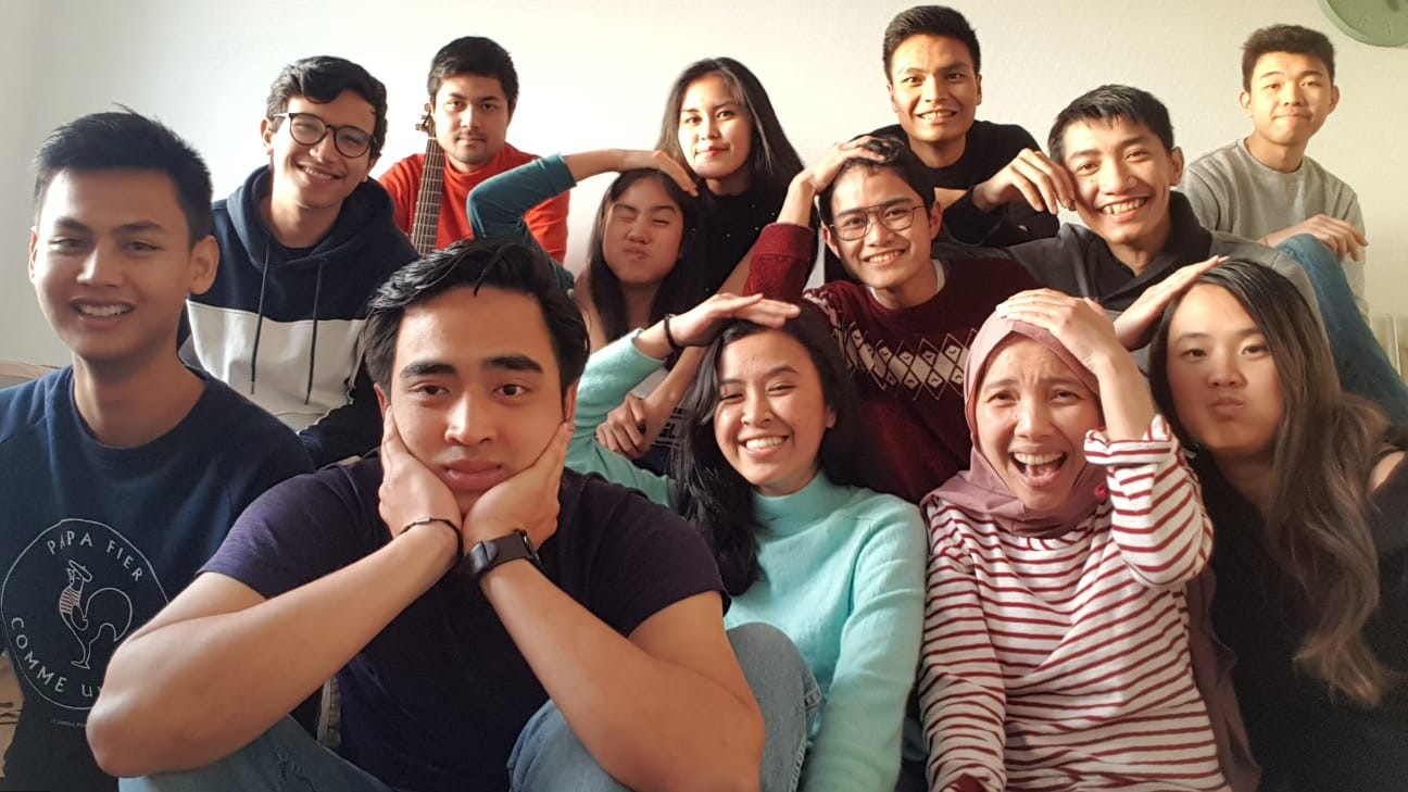 Several Members of Indonesian Student Association (PPI) Toulouse