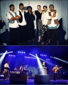 """Bersama salah satu Band Indie Yogyakarta """"Everyday"""" saat melakukan pertunjukan musik di Candi Borobudur (2012). Sumber: Foto Pribadi, Bramantyo Wikantyoso."""