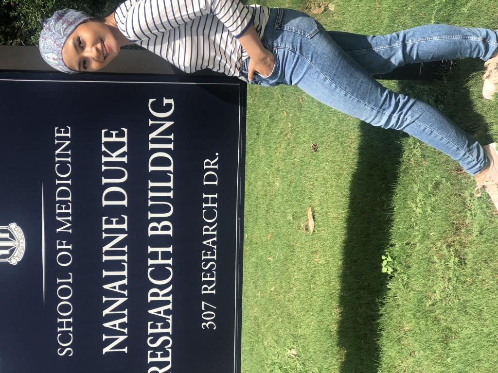 Nisa at Duke Research Building.