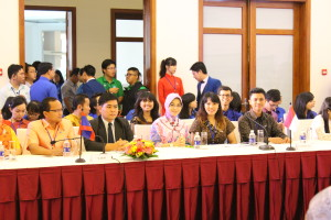 Arnald, right, representing Indonesia at ASEAN Youth Forum in Ho Chi Minh City, Vietnam