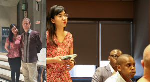 Jeannette Zes wore Indonesian batik during her study visit to the City Council of Western Cape Government, South Africa