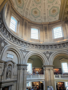 Inside the iconic Radcliffe Camera, home of the Radcliffe Science Library at the heart of the University of Oxford