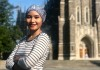 Khairunnisa Semesta (Niisa) in front of Duke Chapel.