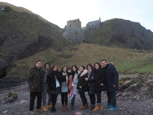 Laurensia loved to travel while abroad. Pictured here, from top to bottom: visiting Bruges, Belgium, often referred to as Venice of the Norh; and having a Scotland road trip with fellow Chevening scholars from Indonesia