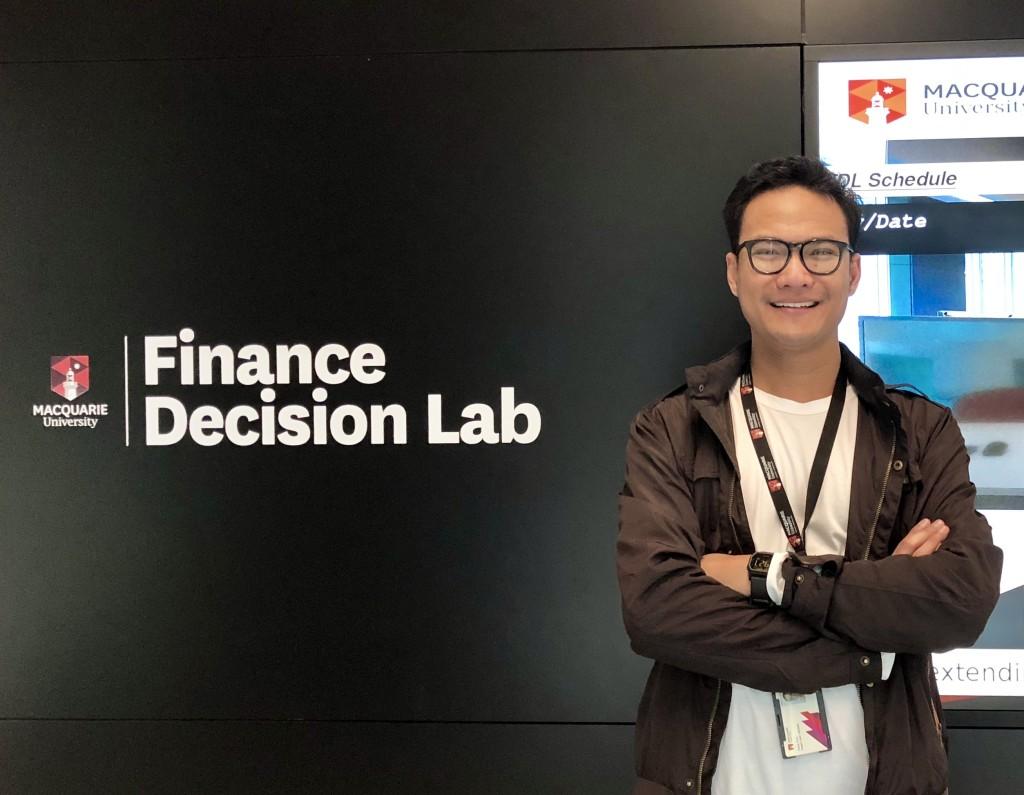 Sandy Arief di Macquarie University. Sumber: Dokumentasi Pribadi
