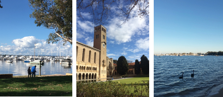 Keindahan lingkungan kampus The University of Western Australia