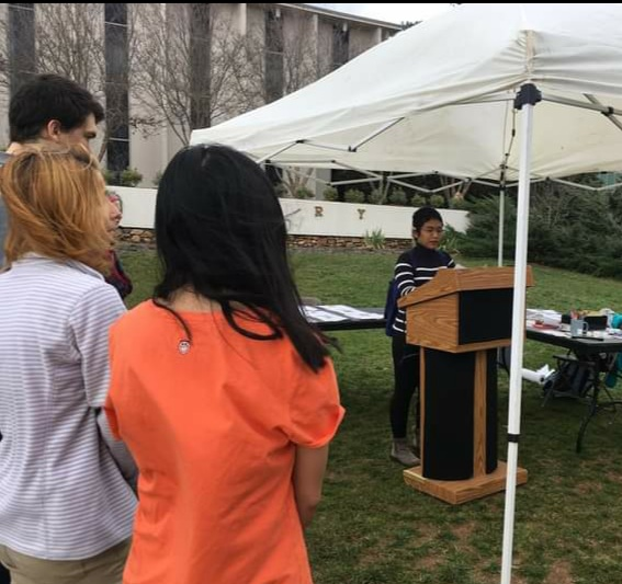 Inef participated in an event hosted by the UNCA's Office of Accessibility and Center for Disability and Diversity to increase the students' awareness of the history of the disability rights movement.