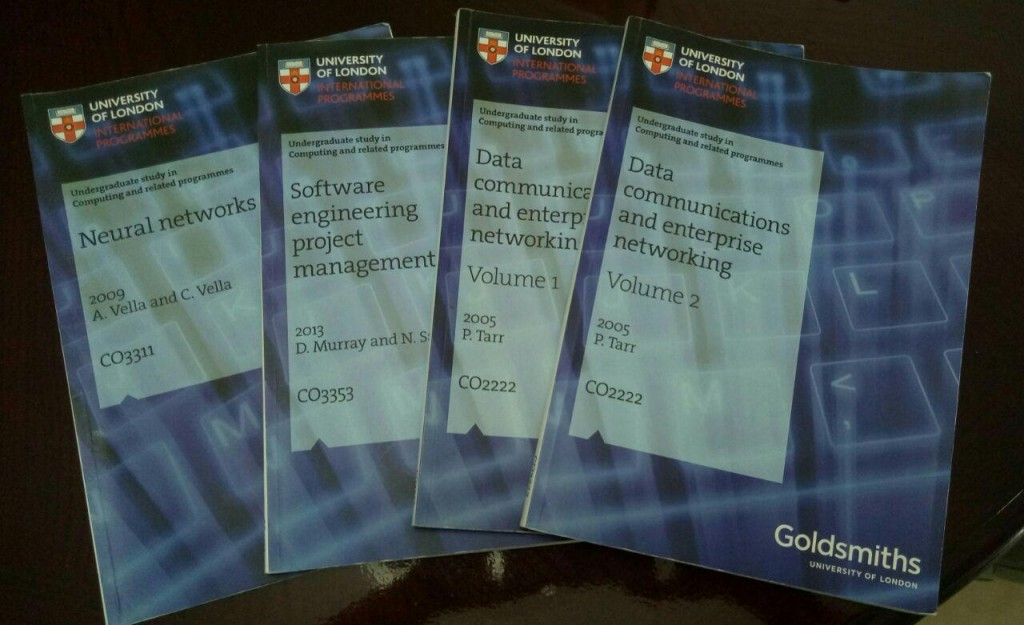 Few of the subjects booklets for Computing and Information Systems undergraduates. (Source: Siska Kristanti Lim)