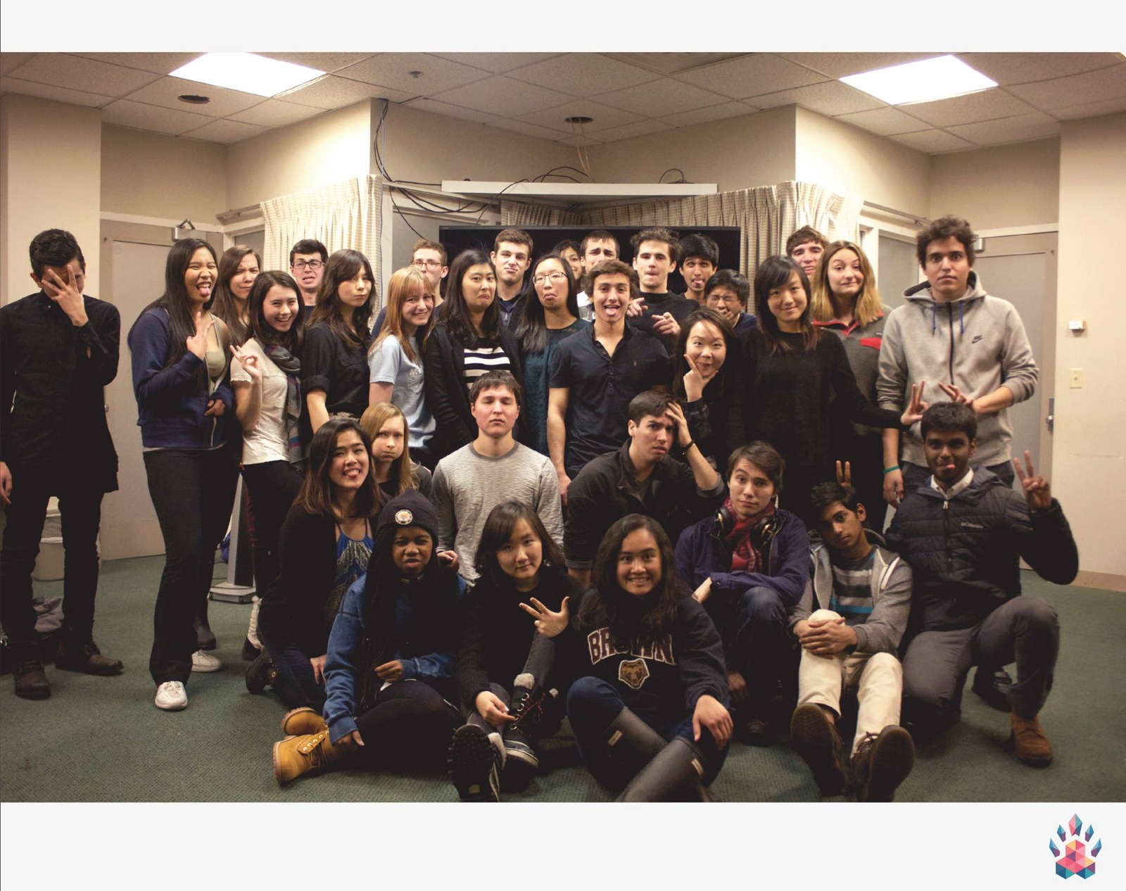 Indira with Hack@Brown teammates in 2015. Photo credit to Hack@Brown https://2020.hackatbrown.org/