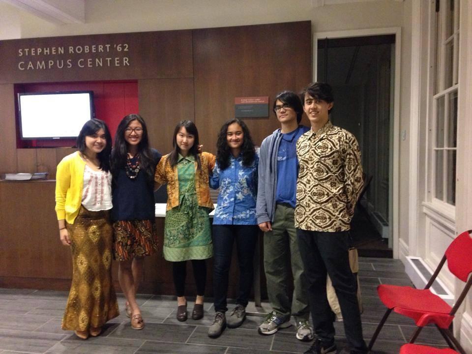 Indira celebrates Hari Batik Nasional with her fellow Indonesian friends at Brown.