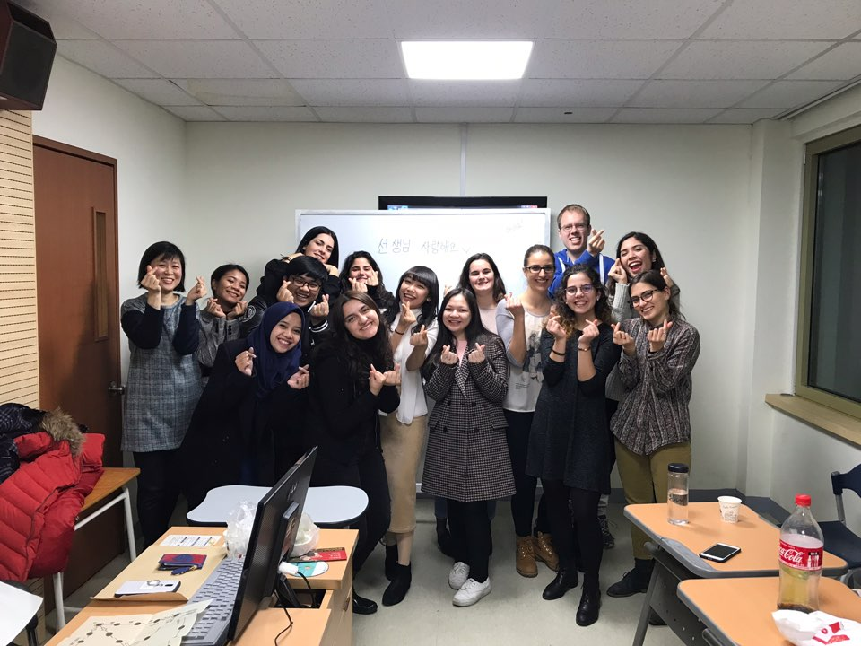 My Korean Language course classmates.
